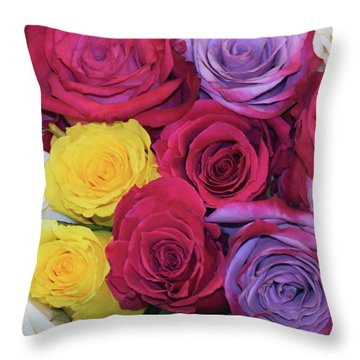Decorative Wallart Brilliant Roses Photo B41217 Throw Pillow