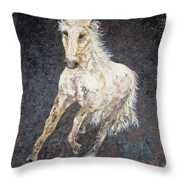 Throw Pillow featuring the painting Dedicated by Piety Dsilva