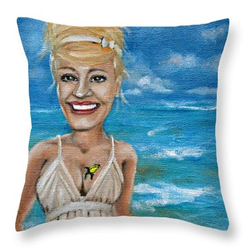 Dee With Her Bloody Mary Throw Pillow