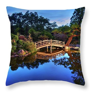 Throw Pillow featuring the photograph Deep Blue, I Am Thinking Of You by Peter Thoeny