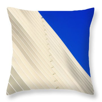 Deep Blue Sky And Office Building Wall Throw Pillow