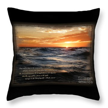 Throw Pillow featuring the mixed media Deep Calls To Deep - Rustic by Shevon Johnson
