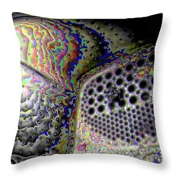 Throw Pillow featuring the digital art Deep Dark by Ron Bissett