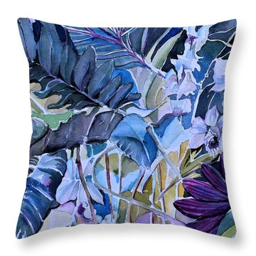 Throw Pillow featuring the painting Deep Dreams by Mindy Newman