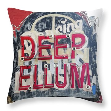 Deep Ellum Dallas Texas Throw Pillow