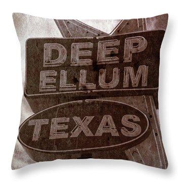 Deep Ellum Texas Throw Pillow by Jonathan Davison