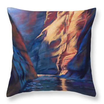 Deep In The Canyon Throw Pillow