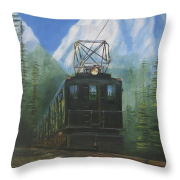 Deep In The Cascades Throw Pillow by Christopher Jenkins