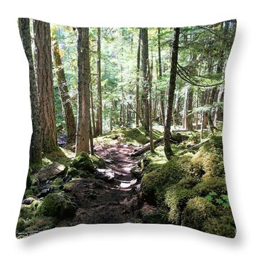 Deep In The Oregon Forest Throw Pillow