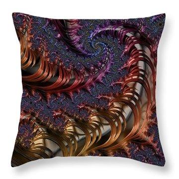 Deep In The Spirals Throw Pillow