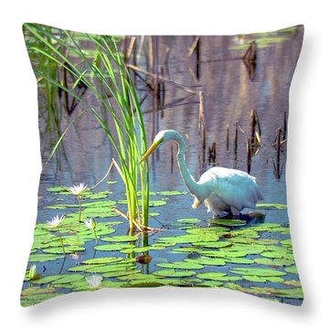 Deep In The Water Throw Pillow