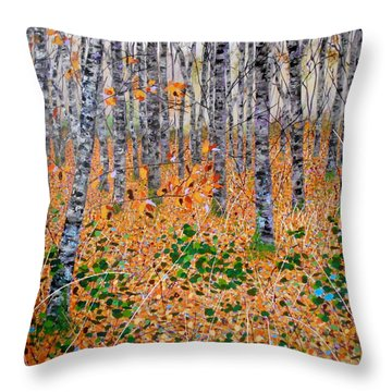 Deep In The Woods- Large Work Throw Pillow