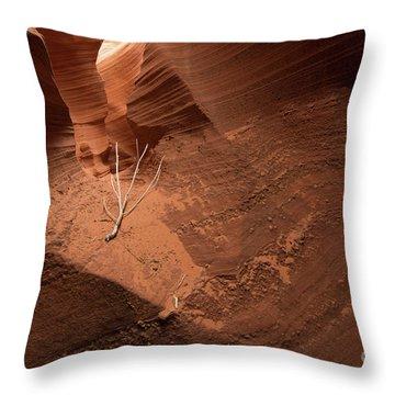 Deep Inside Antelope Canyon Throw Pillow