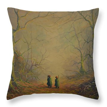 Deep Into The Forest Throw Pillow