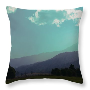 Deep Layers Throw Pillow
