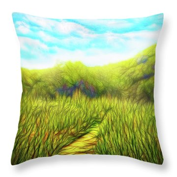 Deep Meadow Tranquility Throw Pillow