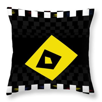 Deep Mirror Deco Throw Pillow