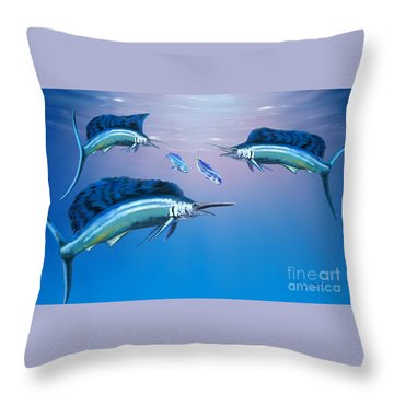 Deep Ocean Throw Pillow by Corey Ford
