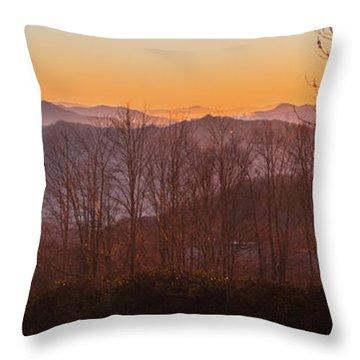 Deep Orange Sunrise Throw Pillow