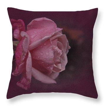 Deep Pink Nov Rose Throw Pillow