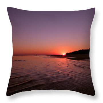 Deep Purple Throw Pillow by Brian Wright
