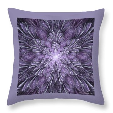 Throw Pillow featuring the digital art Deep Purple Dreams by Linda Whiteside