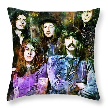 Deep Purple Together Throw Pillow
