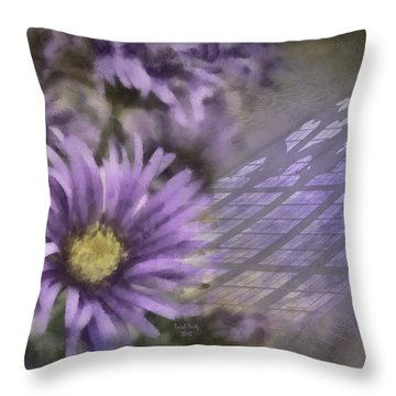 Deep Purple Throw Pillow