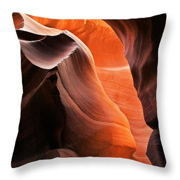 Deep Red Glow Throw Pillow by Mike  Dawson