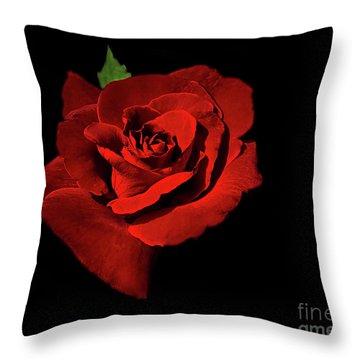 Deep Red Throw Pillow