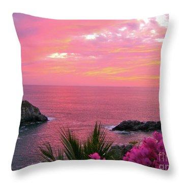 Deep Red Sea Throw Pillow