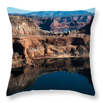 Deep Reflections In Lake Powell Throw Pillow