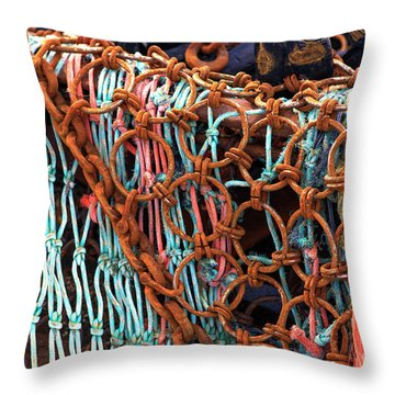 Throw Pillow featuring the photograph Deep Sea Fishing Essential by John Rizzuto