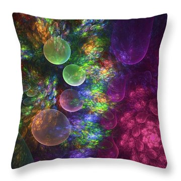 Deep Sea Flora I Throw Pillow by Amorina Ashton