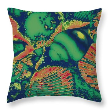 Deep Sea Journey Throw Pillow by Rachel Hannah