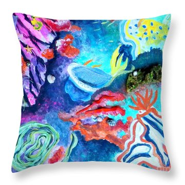 Deep Sea Nudibranch Throw Pillow