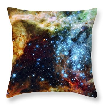 Deep Space Fire And Ice 2 Throw Pillow by Jennifer Rondinelli Reilly - Fine Art Photography