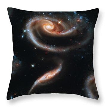 Deep Space Galaxy Throw Pillow by Jennifer Rondinelli Reilly - Fine Art Photography
