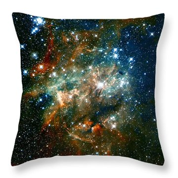 Deep Space Star Cluster Throw Pillow