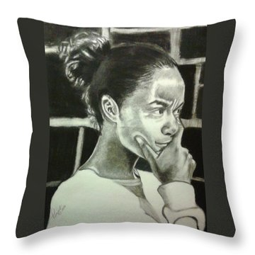 Deep Thinking Throw Pillow