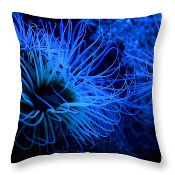 Deep Underwater Throw Pillow by Leo Symon