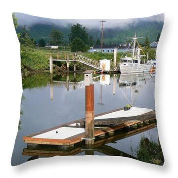 Deep Water Channel Throw Pillow by Pamela Patch