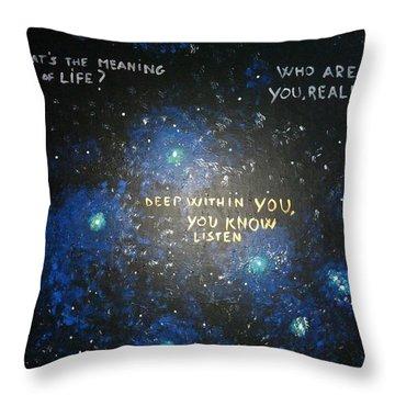Deep Within You Throw Pillow by Piercarla Garusi