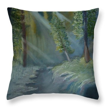Deep Woods Dry Gulch Throw Pillow