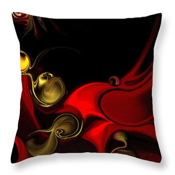 Throw Pillow featuring the digital art Deeper Reappearance Of High Energy by Carmen Fine Art