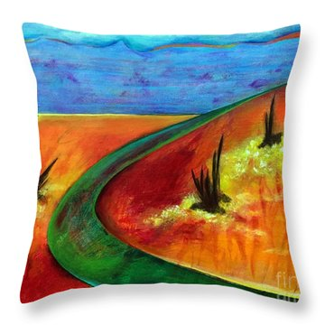 Deeper Than It Seems Throw Pillow by Elizabeth Fontaine-Barr