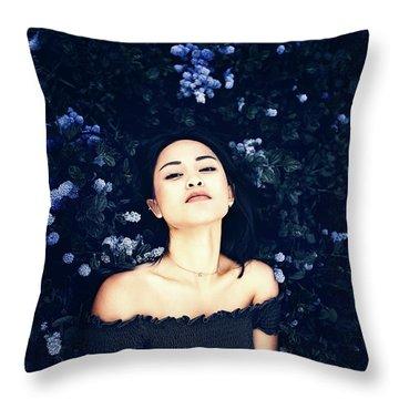 Deepest Blue Throw Pillow
