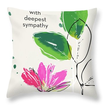 Deepest Sympathy Daisy- Art By Linda Woods Throw Pillow