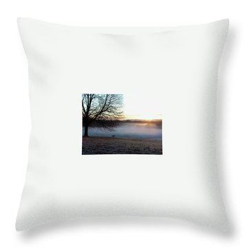 Deer At Dawn Throw Pillow