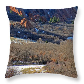 Deer At Roxborough Throw Pillow